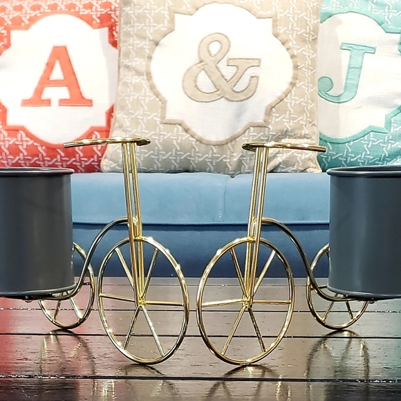 Tricycle Candle/Flower Holder Set